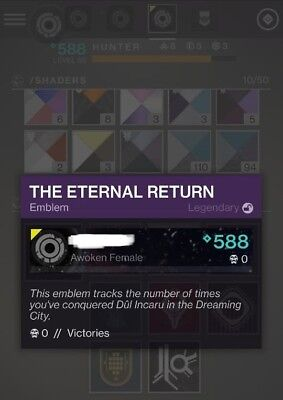 Destiny 2 - Solo Shattered Throne - The Eternal Return Emblem (XB1/PS4)