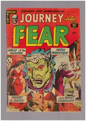 Journey into Fear # 8  Bells of the Damned !  grade 3.5 scarce Superior book !