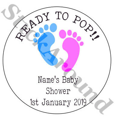 BABY SHOWER FAVOUR Stickers Party Bag Girl Boy Gender
