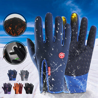 Winter Thermo Warm Neopren voll Finger Handschuhe wasserdicht Touch Screen Sport