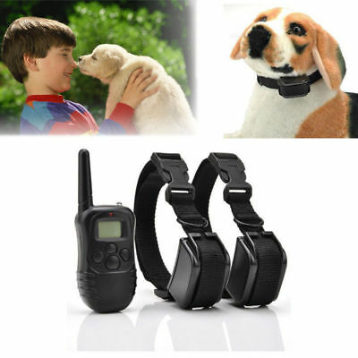 2 Dogs Shock Training Collar Electronic Remote Control Waterproof 875 Yards USA