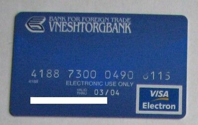 Vneshtorgbank Visa Russia Credit Card Used Expired For Collection