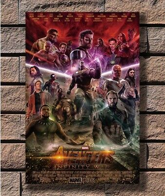 N-374 Avengers Infinity War Marvel The Last Supper Hero Movie Fabric POSTER 36