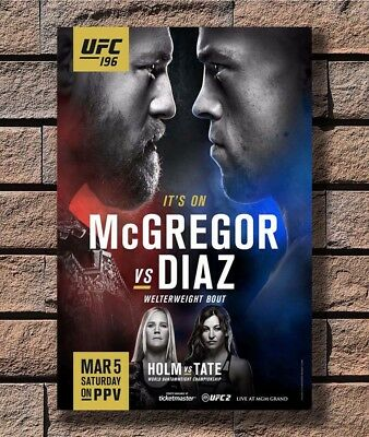 Y-106 CONOR McGREGOR VS NATE DIAZ UFC 202 MMA Promo 01 27x40 24x36 Hot Poster