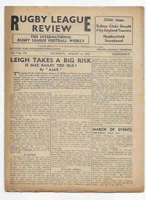 1953 Rugby League Review Leigh Australia New Zealand England Huddersfield