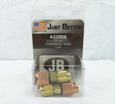 "(3 Pack) JB INDUSTRIES A32908 Copper Line Piercing Saddle Valve 1/2"" OD New"