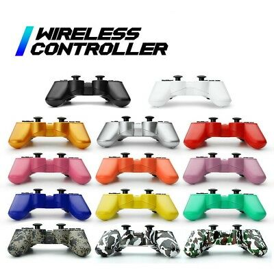 NEW Wireless Controller works w/PS3 Bluetooth Joypad With Cable Multiple Colors
