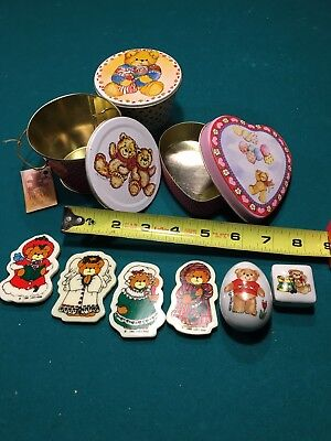 LOT Lucy & Me Rigg Enesco Items/Lidded Tins/Ceramic Mini Boxes/Magnets 70-80's