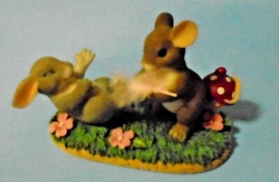 """Charming Tails """"Tickled Pink"""" Figurine Fitz & Floyd 89/137"""