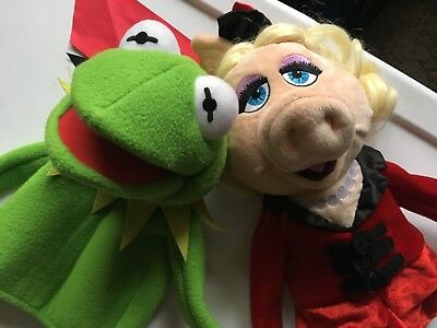 Kermit and Miss Piggy The Muppets hand puppets