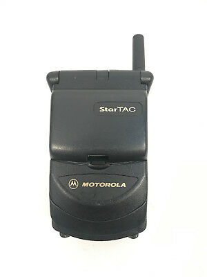 Startac Motorola Flip Cell Phone Black Vintage AT&T ST7797 Front & Back Battery
