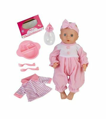 New Bambolina  playtime 33 cm baby doll  drink wet accessories set.
