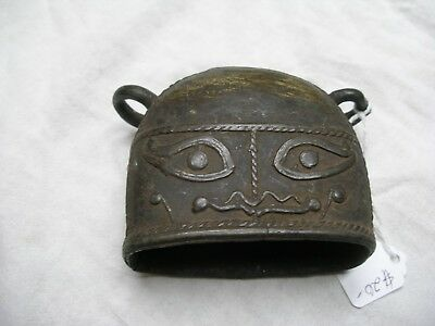 Cattle Bell, Cast Brass?, Thailand, 20Th  Century, Lost Wax Casting