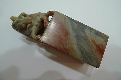 Vintage Ornately Hand Carved Soapstone Wax Seal