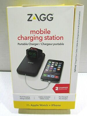 Zagg 5000mAh Charging Station for Apple iPhone/iWatch - Black