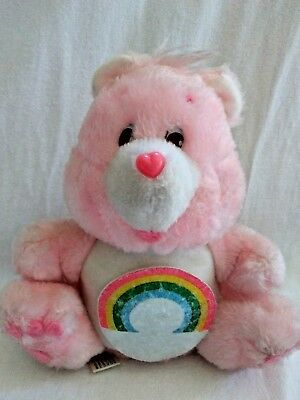 "Care Bears Cheer Bear Coin Bank Plush 8"" American Greetings 1984"