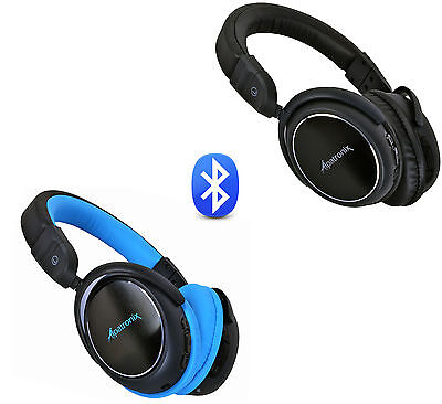 Wireless Bluetooth Stereo Headphones Noise Isolating Over Ear Headset with Mic