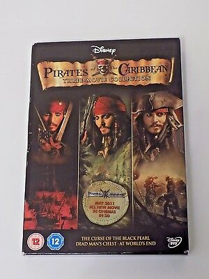 Pirates Of The Caribbean Three Movie Collection DVD Box Set