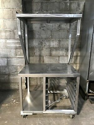 """36x27"""" Stainless Steel Equipment Stand Table w/ Over Shelf"""
