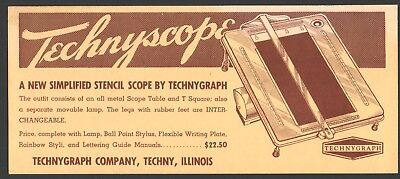 TECHNYSCOPE lg size Advertising Ink Blotter TECHNYGRAPH COMPANY Techny, Illinois