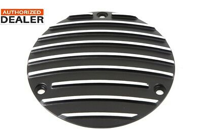 Finned Derby Cover Black fits Harley Davidson,V-Twin 42-0632