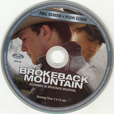 Brokeback Mountain (DVD, 2006, Full Frame) DISC ONLY