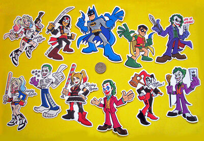 DC Comics Vinyl Sticker Batman Joker Harley Quinn Car Truck Laptop Decal