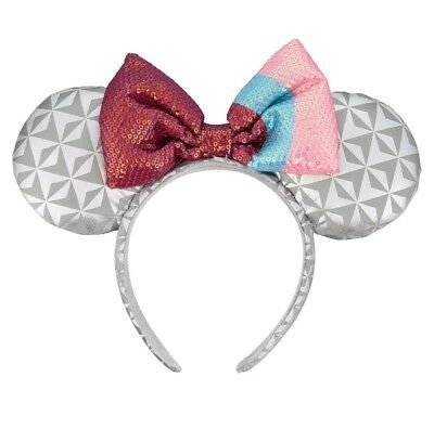 Disney Parks Epcot Minnie Mouse Ears Headband New with Tags