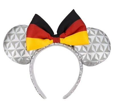 Disney Parks Epcot Germany Flag Minnie Mouse Ears Headband New with Tags