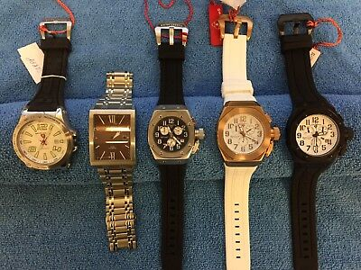 Lot of 5 Swiss Legend Watches PARTS / REPAIR - Sprint Racer(ticks), Trimix Diver