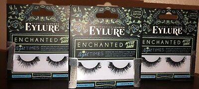 fe310ff1e9d Eylure - Enchanted After Dark Eyelashes Night Times (Adhesive Included) Lot  Of 3