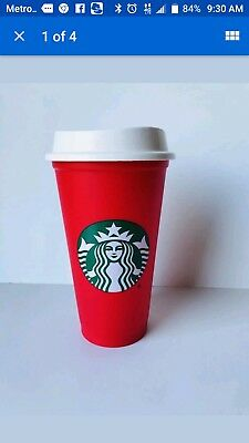 NEW Starbucks Red Reusable 16 Oz Christmas Holiday 2018 Cup - Hard to find