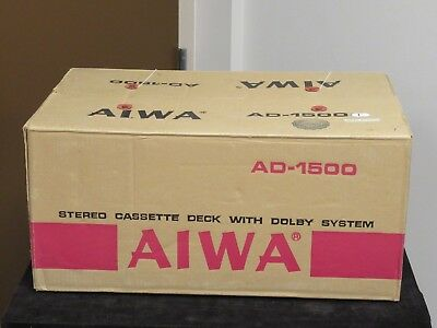 AIWA AD-1500 Stereo Cassette Tape Deck New Old Stock AS IS