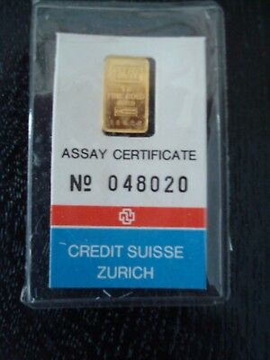 Credit Suisse 1 gram Gold Bar
