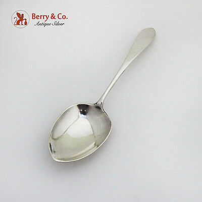 Hand Made Hammered Berry Casserole Spoon Arthur Stone Associates Sterling Silver