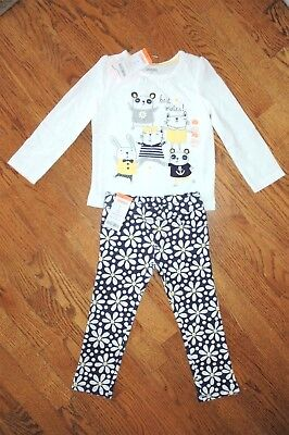 NEW Gymboree Girls Flower Shower Mates Shirt Daisy Jeggings Outfit Set 2T NWT