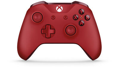 Official Microsoft New Xbox One Red Controller Wireless Bluetooth Windows 10