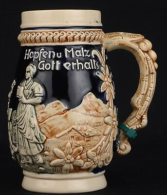 West German Stoneware Beer Stein