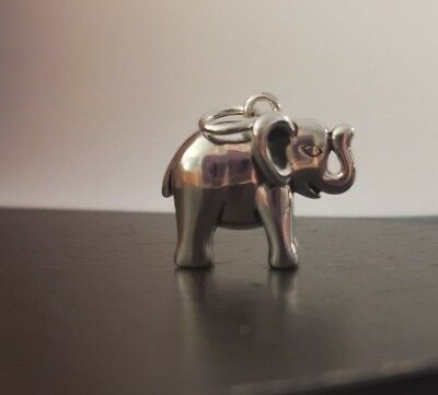 ~~New Sterling Silver Elephant Charm/ Pendant~Lucky Elephant~~ Trunk UP~~
