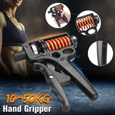 10-50KG Adjustable Hand Grip Exerciser Strength Wrist Forearm Muscle