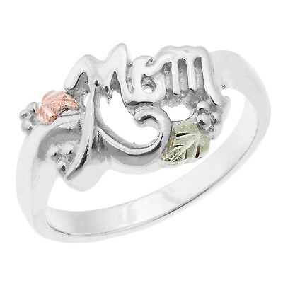 Black Hills Gold mom ring sizes 5 6 7 8 9 sterling silver womens
