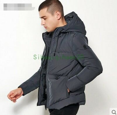 Stylish Mens Thicken Winter Hooded Slim SHort Jacket Overcoat Parka Outwear SIBO