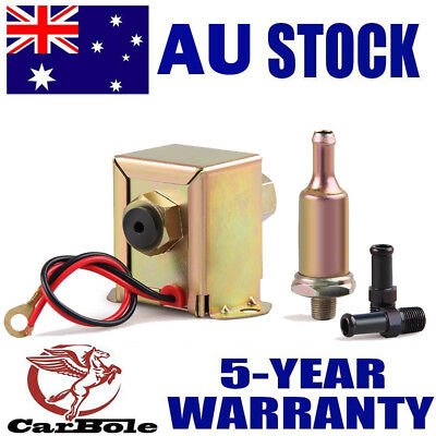 Electric Fuel Pump 12 volt Solid State 4 to 7psi 70(L/h) Petrol Facet Universal