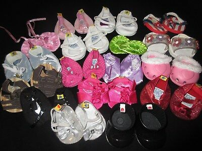 Build A Bear Bab Lot Of 17 Pair Shoes Boots Sandals Girl Boy