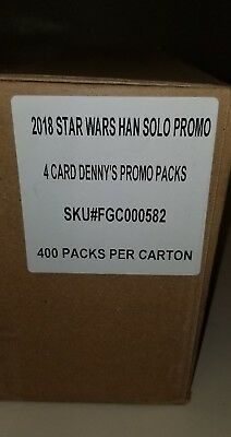 Dennys SOLO star wars 2018 TOPPS cards. Sealed case. 400 cards