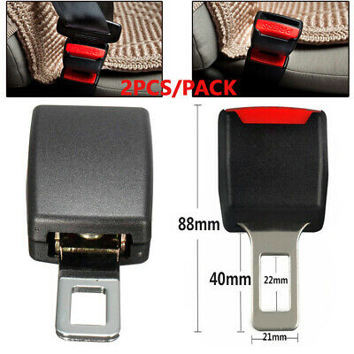 Universal 2X Car Safety Seat Belt Buckle Extension Extender Clip Alarm Stopper
