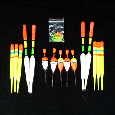 15pcs Assorted Sizes Lot Fishing Lure Floats Bobbers Slip Drift Tubes