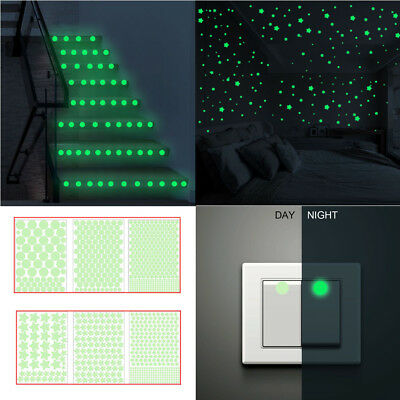 3D Stars Glow In The Dark Luminous Fluorescent Wall Stickers Room Decors