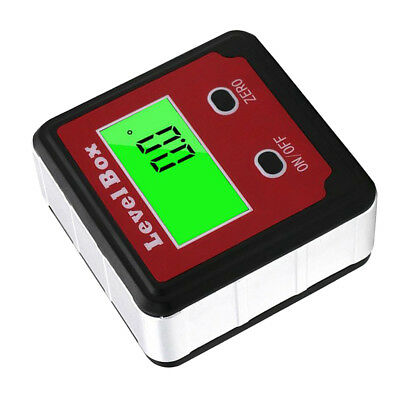 1x Digital LCD Protractor Angle Finder Bevel Level Box Inclinometer Magnetic