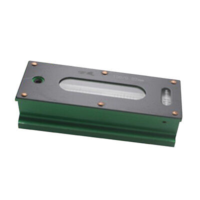 Precision Level Bar Leveler, High Accuracy 0.02mm, with Storage Case 100mm